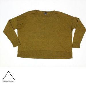 Eileen Fisher Merino Wool Crop Oversize Pullover